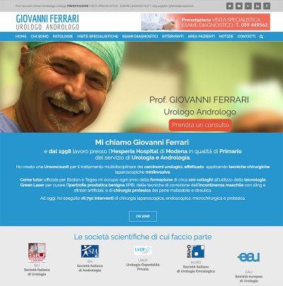 realizzazione-sito-professor-giovanni-ferrari-urologo-a-modena